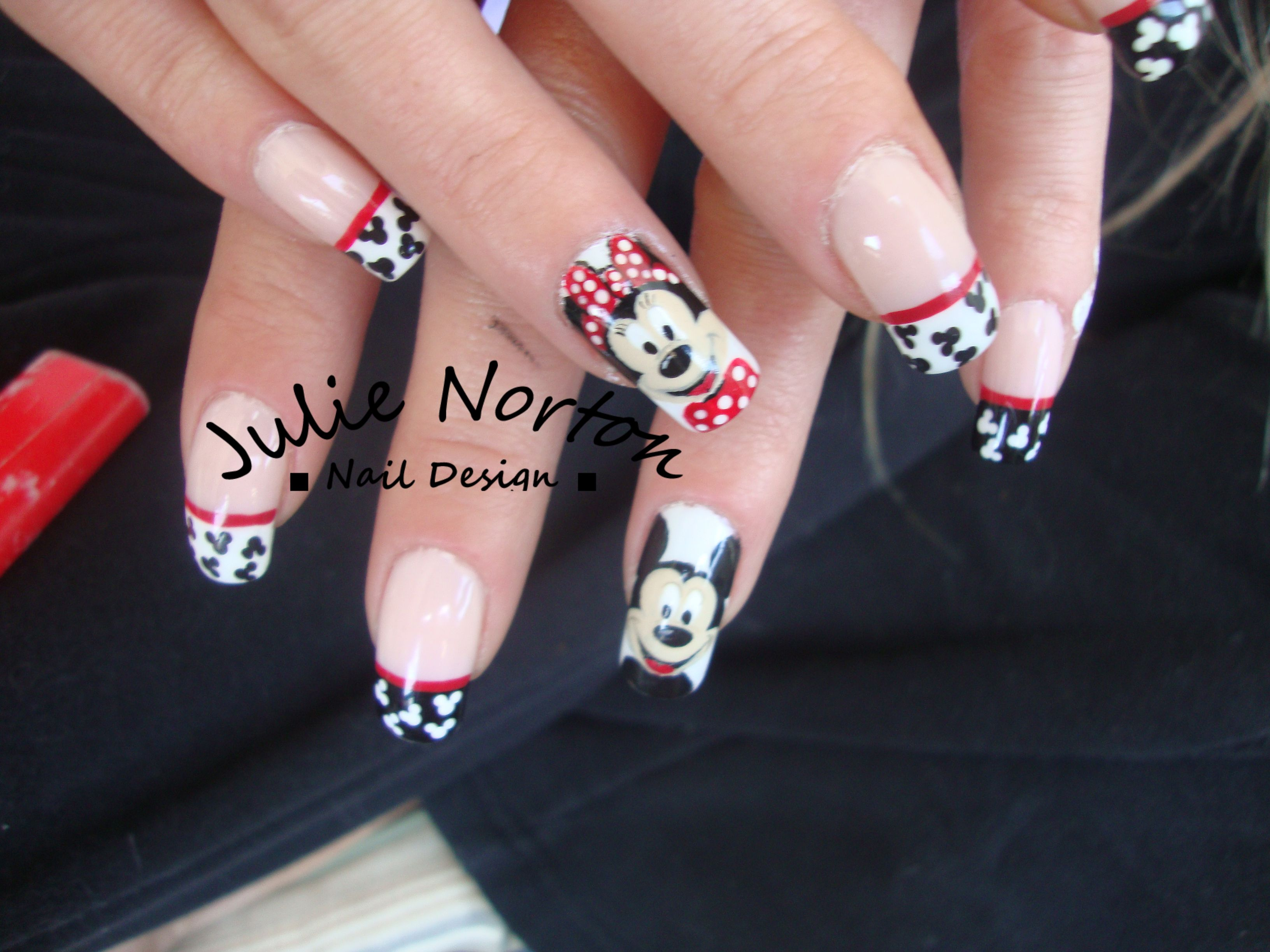 Mickey and Minnie French Manicure. Try this with 3d. | French ...