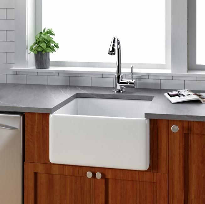 Magnificent 20 Danbury Fireclay Single Bowl Farmhouse Sink In 2019 Home Interior And Landscaping Palasignezvosmurscom