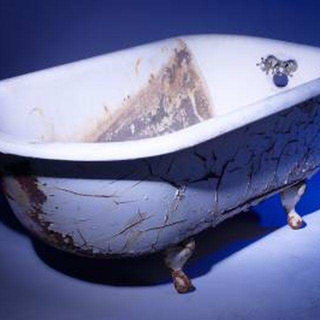 How To Remove Hair Dye From A Tub Hunker Porcelain Tub Remove Bathtub Refinish Bathtub