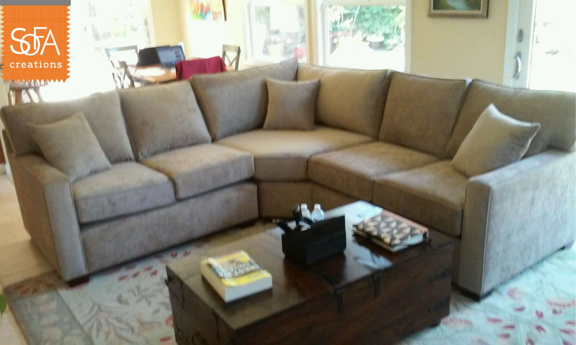 Davis Wedge Sectional In Microfiber. At Sofa Creations, Our Sectionals Are  Customizable To The
