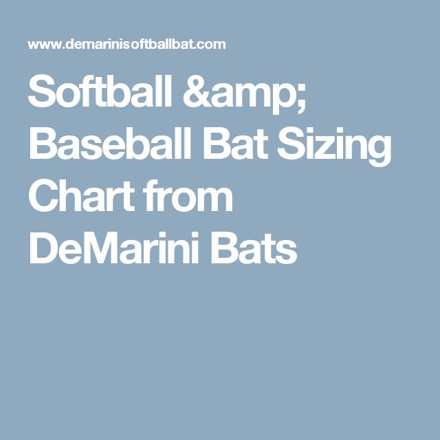 softball bat sizing chart