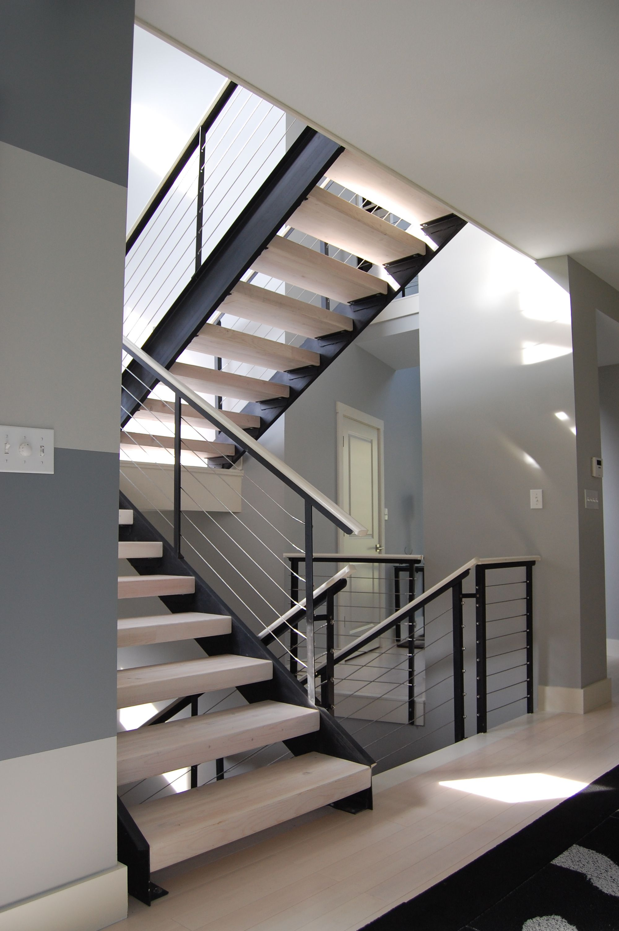 i love this interior stair railing very modern and clean   interior decor cable railings aluminum house wiring options aluminum house wiring years