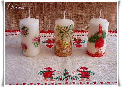 velas artesanales velas decoradas jabones hermosa navidad proyectos cera los titulares de vela decoupage