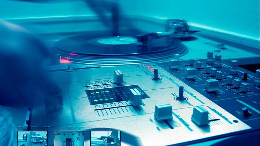 Fondo De Pantalla Dj Mixer Turntable Blue Music And Dj
