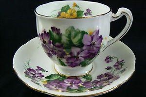 Royal Standard Tea Cup Saucer Lavender Lady Pattern Fine Bone ...