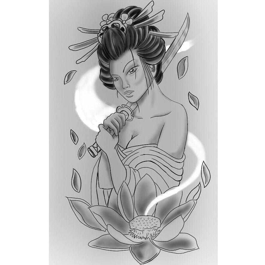 Geisha Projeto Desenhos Para Tatuagem Masculino