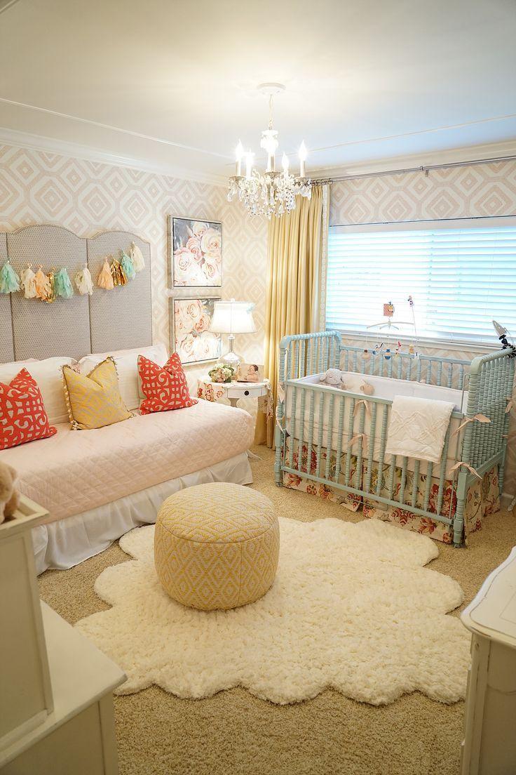 kbgdesign nursery, baby girl, nursery ideas, daybed