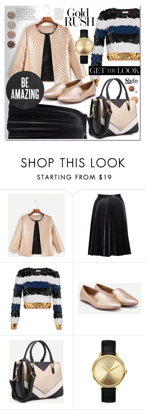 """""""Shein 4"""" by e-mina-87 ❤ liked on Polyvore featuring Cusp by Neiman Marcus, Sonia Rykiel, Lumière, Terre Mère and Nixon"""