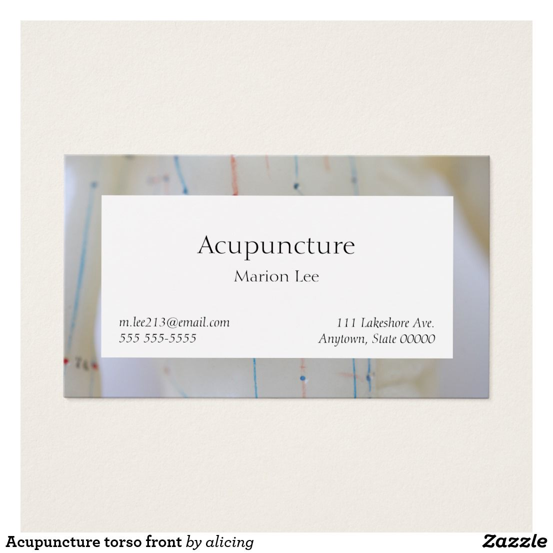 Acupuncture torso front | Business Cards - stylish, yet all business ...