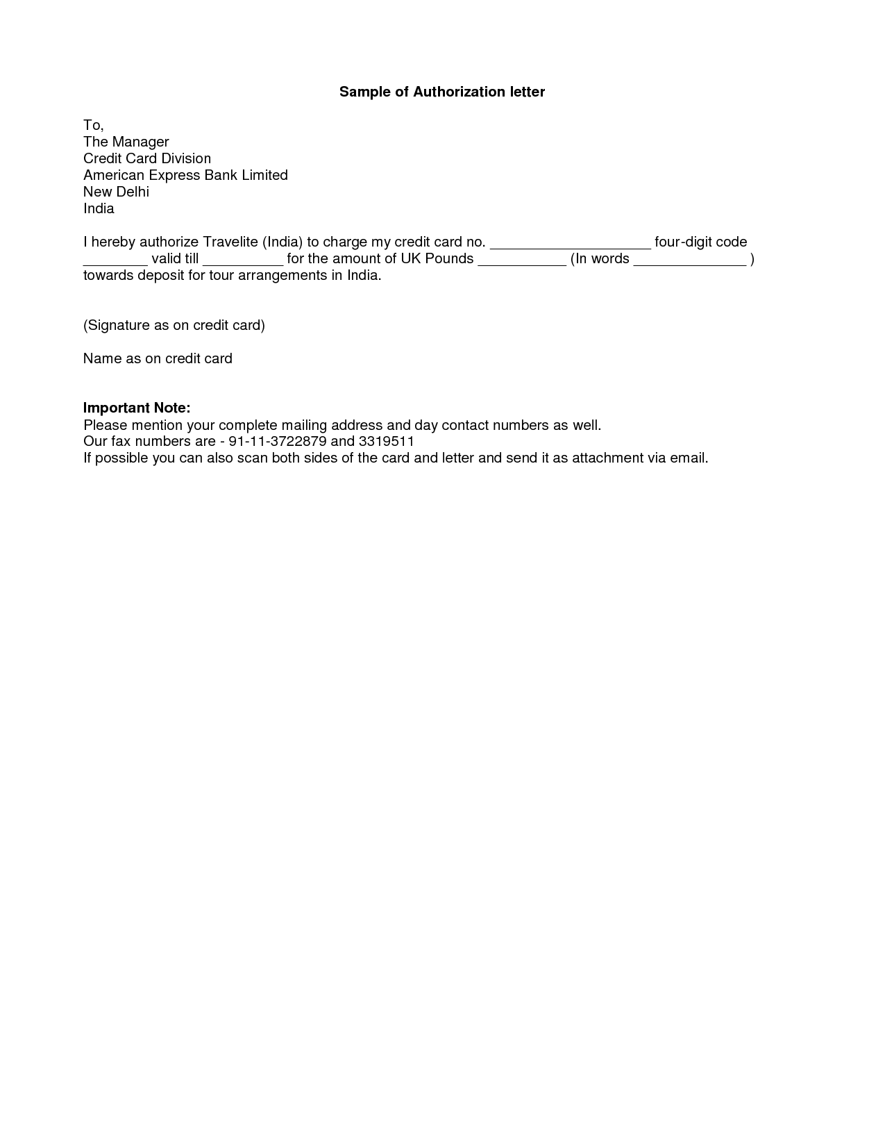 Payment Receipt Letter Authority Letter Format To Authorize A Person Best Template .