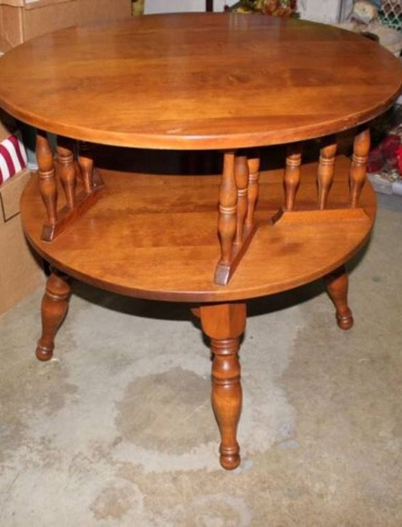 This Is A Very Nice Antique Mid Century Ethan Allen Lazy Susan Side Table The Entire