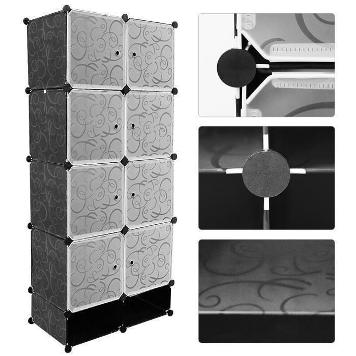 Viyiduo-Plastic Storage Cabinet With 1 Hanging Rod …