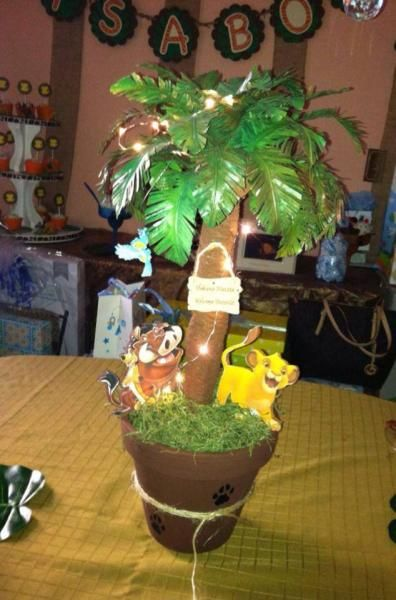 Lion King Baby Shower Ideas The Lion King Centerpieces Baby