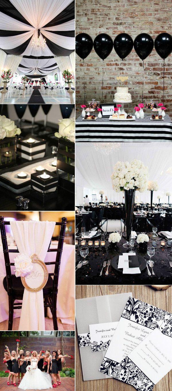 50s wedding decoration ideas   Classic Black and White Wedding Ideas  Weddings Wedding and Black
