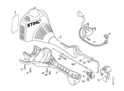 Stihl fs 85 parts diagram 5 e 2 b 885 e b 984 40 a 1 b 3 c