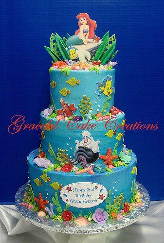 ARIEL LITTLE MERMAID BIRTHDAY CAKE Mermaid birthday cakes Mermaid