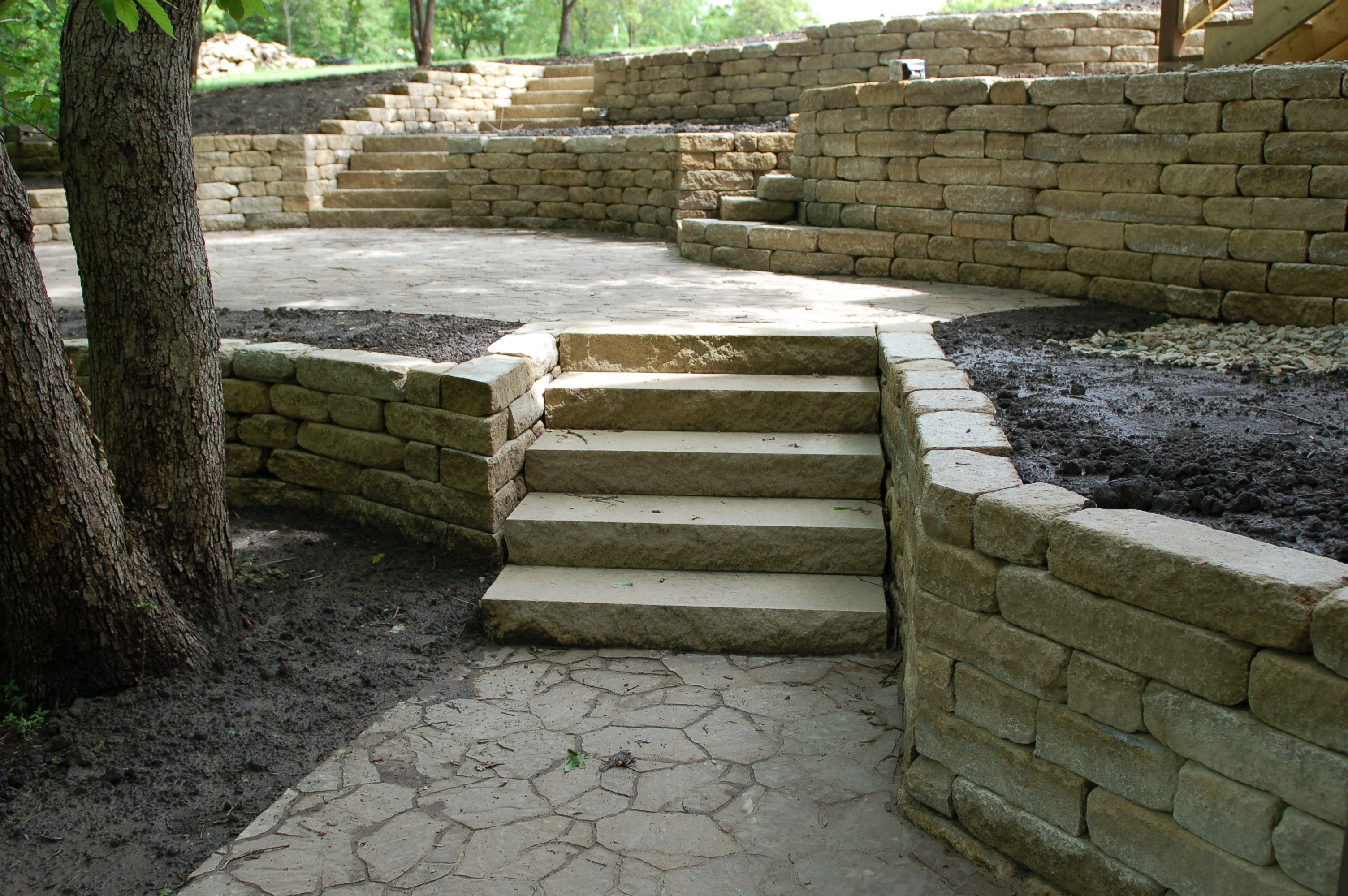 homepage retaining walls & steps