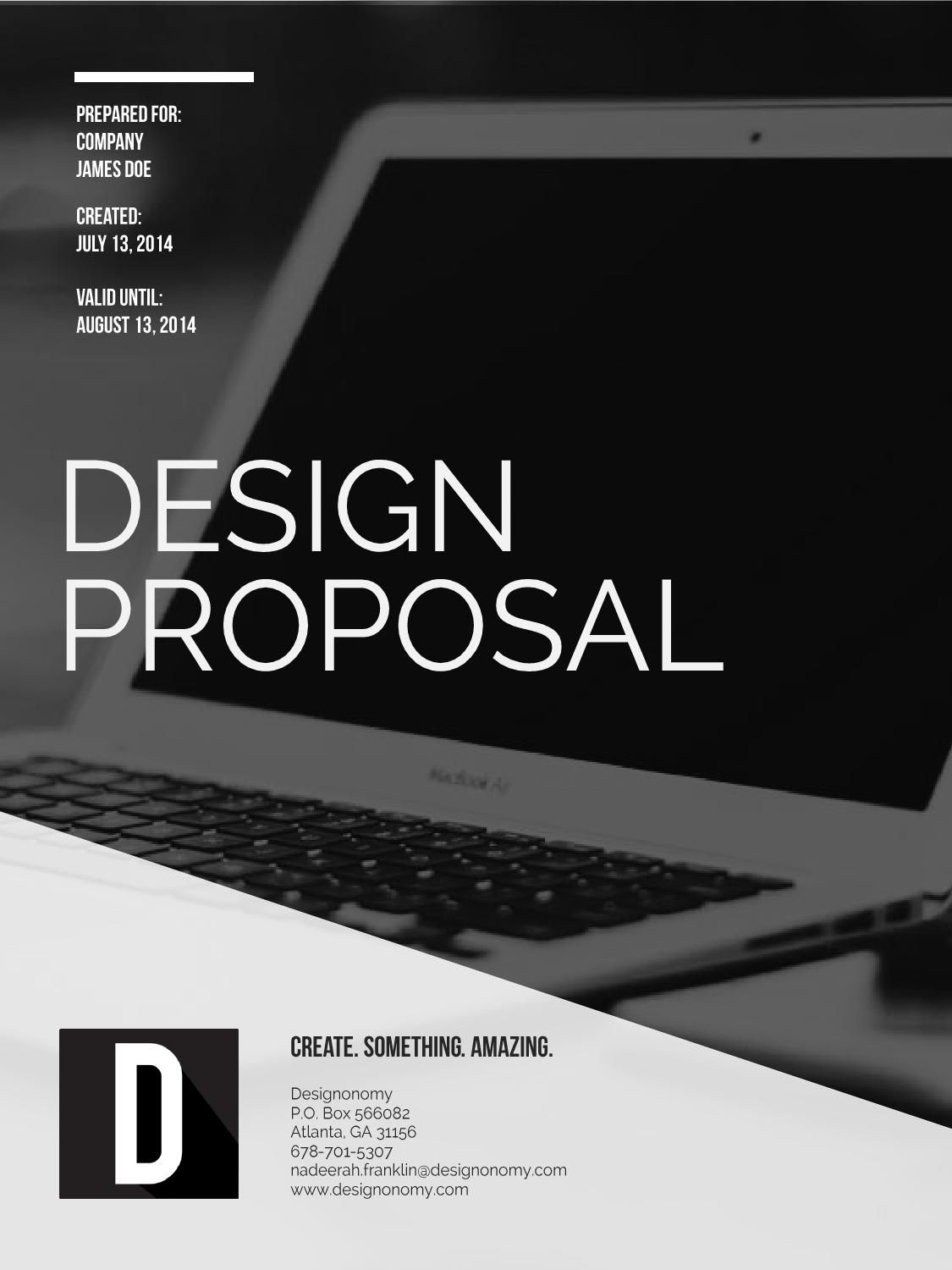 Design Proposal Template  Proposal Templates Proposals And