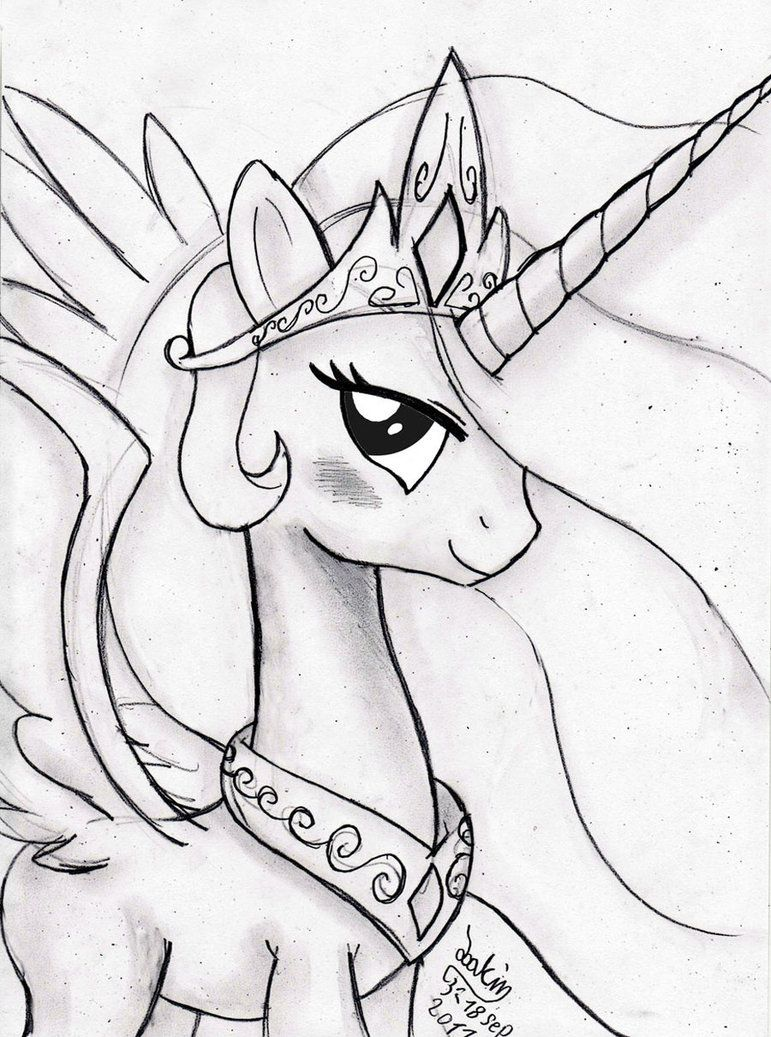 Mlp_drawings Of Celestia   Google Search