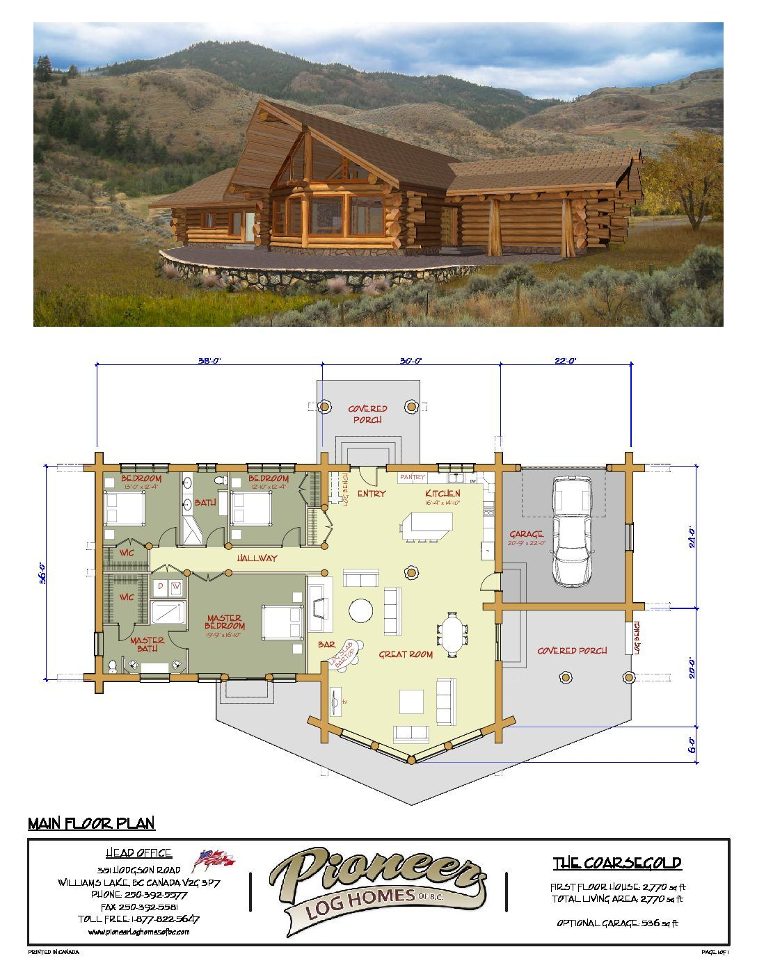 Coarsegold Pioneer Log Homes Midwest Log Home Floor Plans Lake House Plans Cabin House Plans