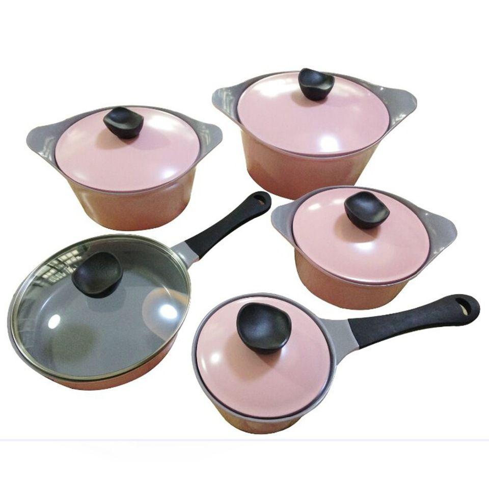 d979a476db41 10 pcs non-stick pink ceramic Korea cookware sets | alibaba in 2019 ...