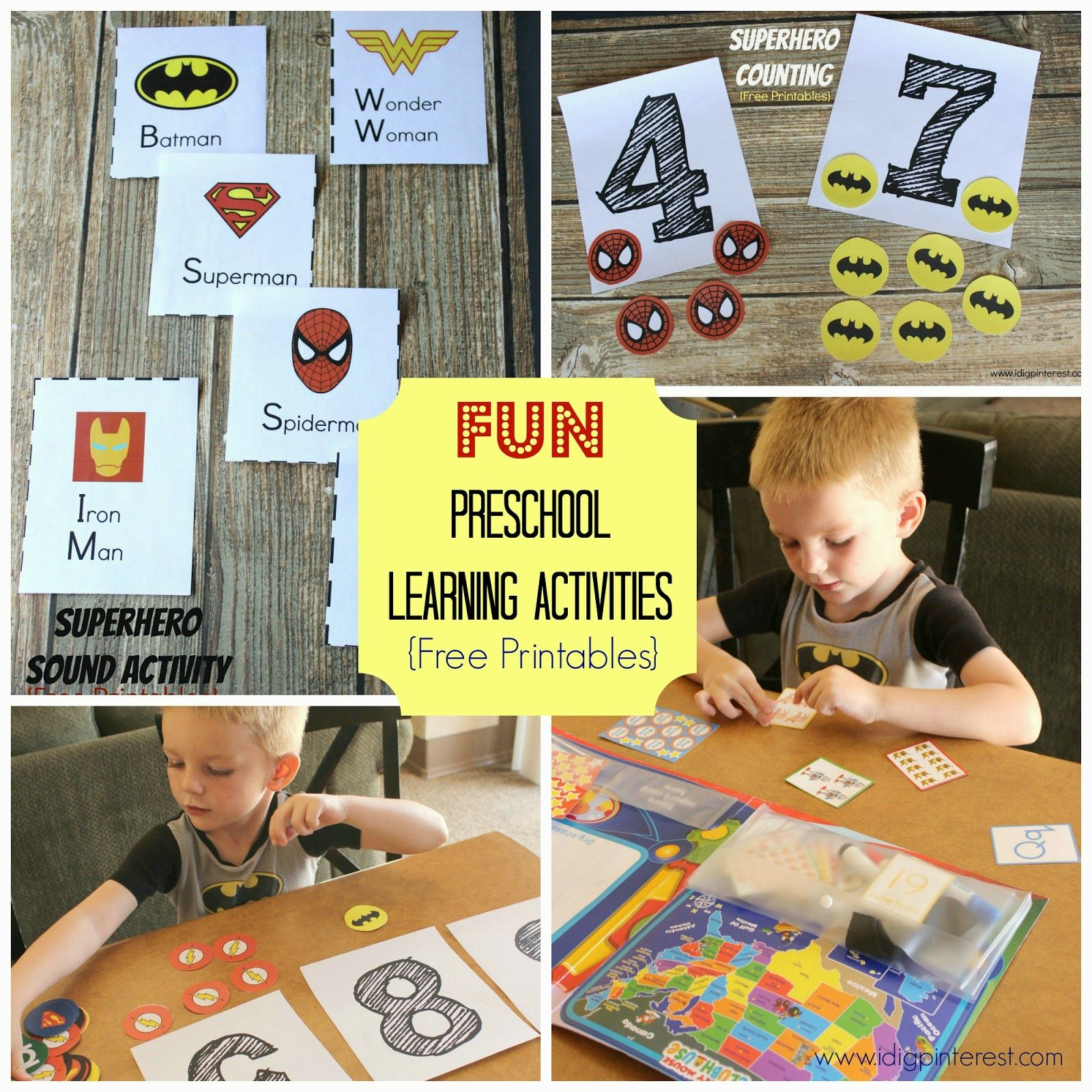 Free Preschool Counting Printables from I Dig Pinterest