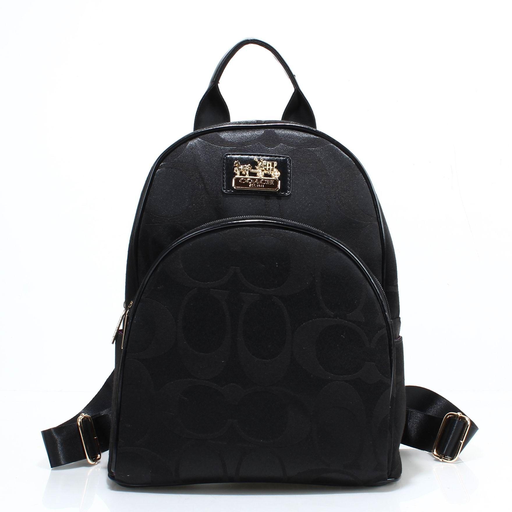 Coach bags 2015 new black backpack coach handbags