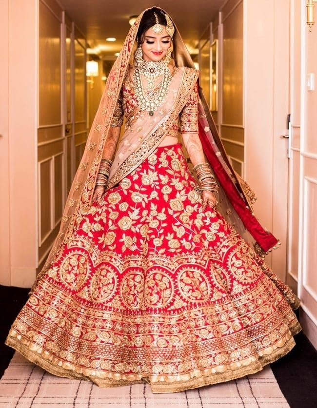 100 Latest Designer Wedding Lehenga Designs For Indian Bride Looksgud In Indian Wedding Outfits Bridal Outfits Indian Bridal Dress