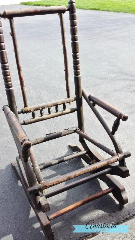 Antique Rocking Chair Restoration: Broken to Beautiful   Pinterest ...
