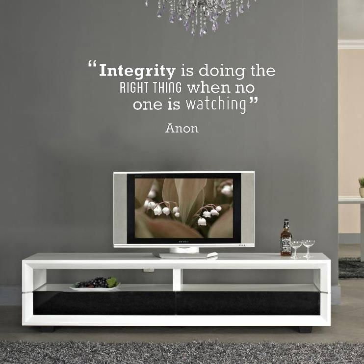 Integrity' Motivational Quote Wall Sticker - Small 67cm W X 26cm H
