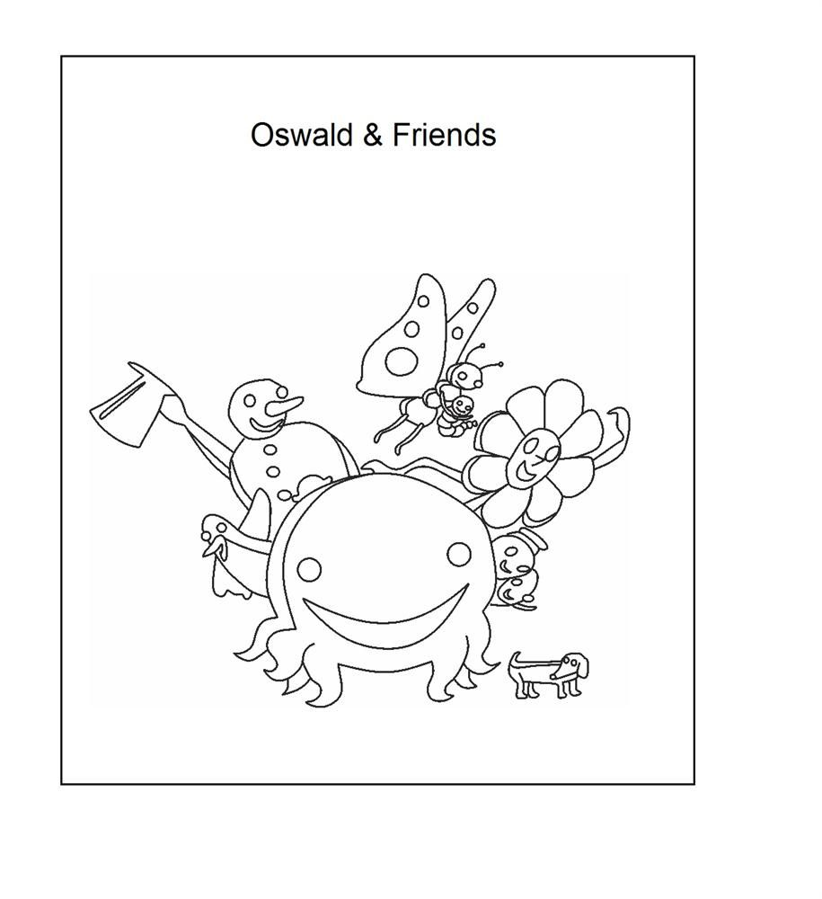 oswald the octopus coloring page henri 1st birthday pinterest