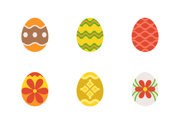 Easter Egg 2 Flat Icons By Icon Stall Easter Eggs Flat Icon Flat Icons Set