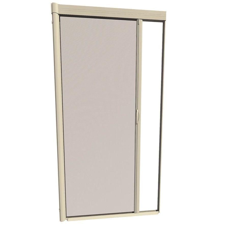 Larson Escape 100 Almond Aluminum Frame Retractable Screen Door