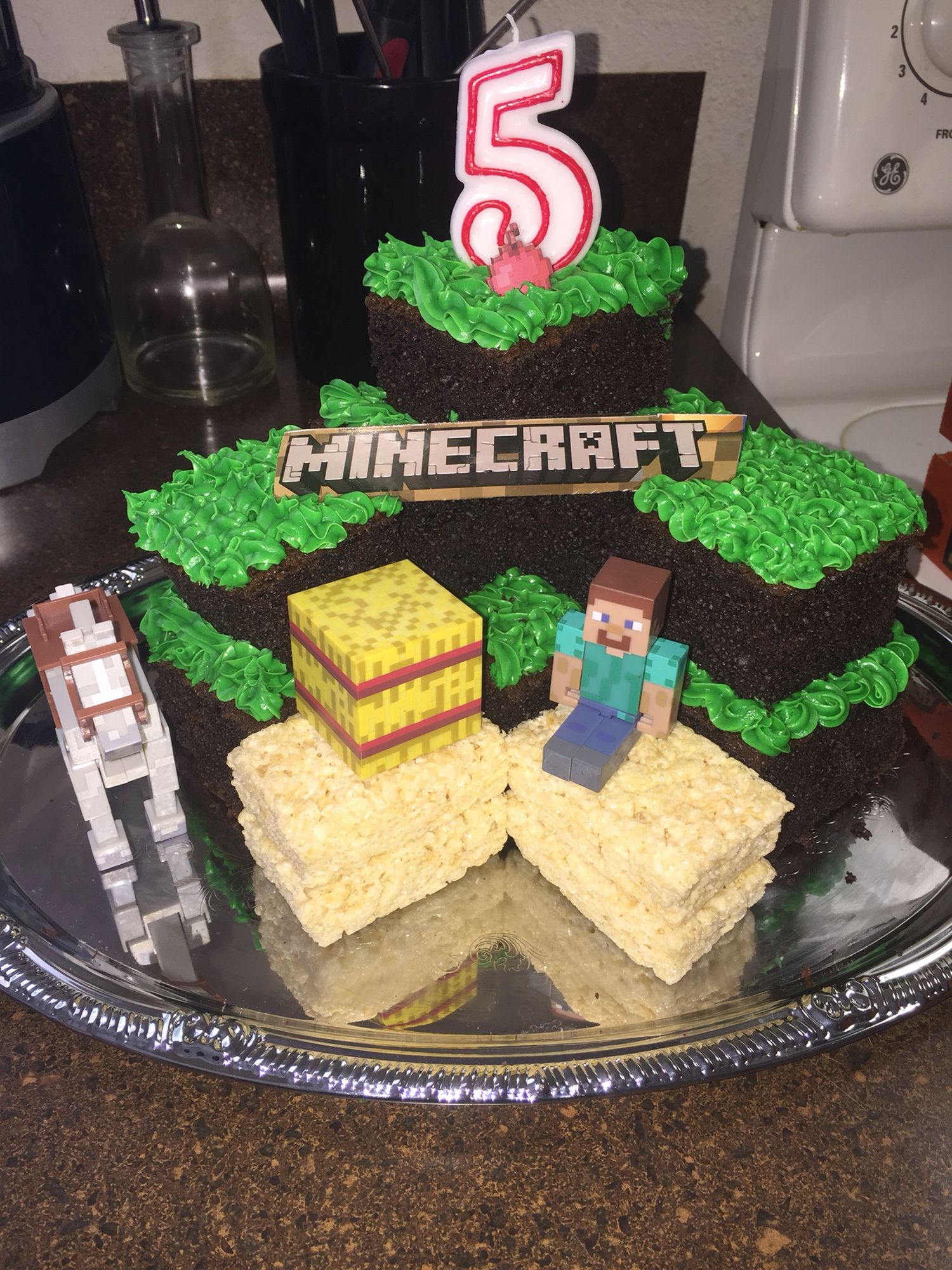 Diy Minecraft Cake 3 Easy Ingredients 2 Chocolate Cake Box 2