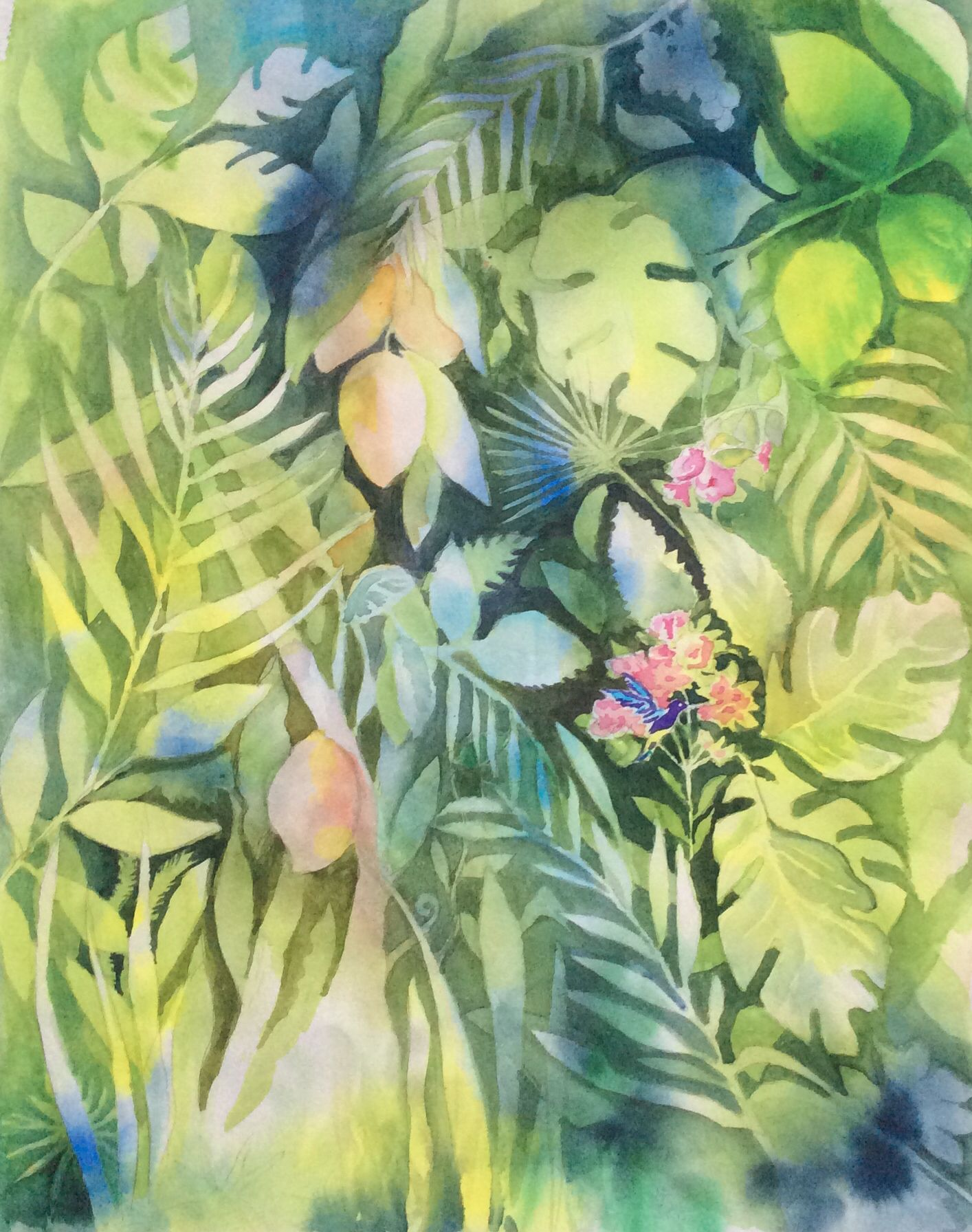 Tropical forest, watercolor Watercolor Lessons