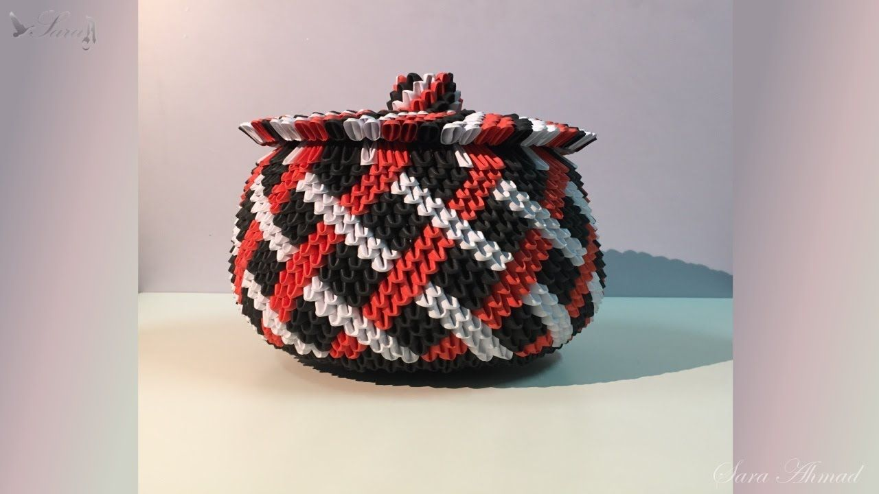 How to make 3d origami basket 8 part 2 3d origami pinterest how to make 3d origami basket 8 part 2 jeuxipadfo Image collections