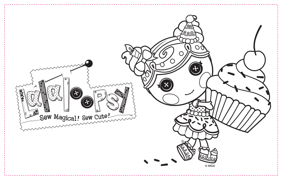Your birthday guests will la-la-love coloring Lalaloopsy coloring ...