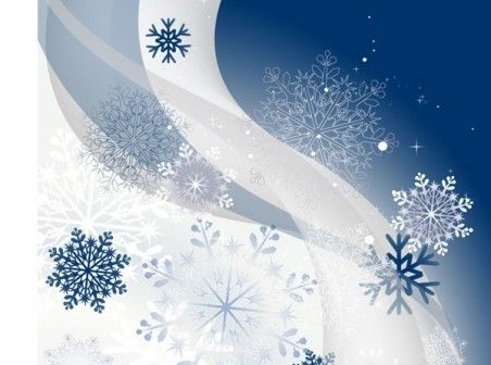 Winter Background With Snowflakes  Snowflakes