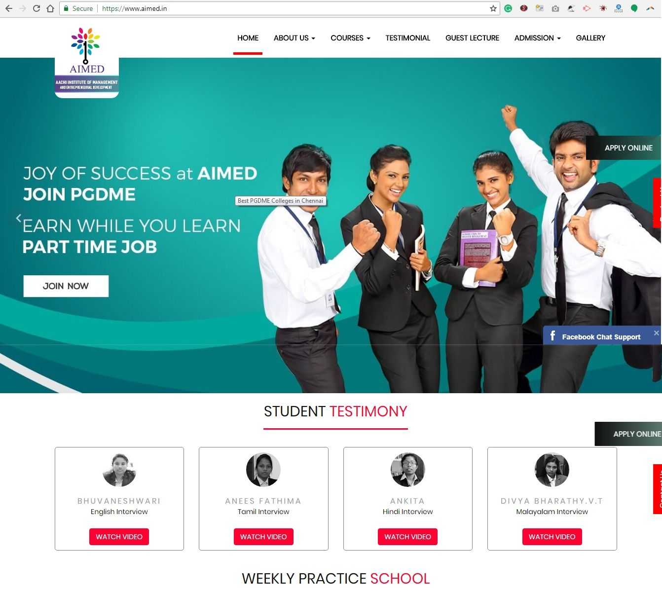 BEST BUSINESS MANAGEMENT INSTITUTE IN CHENNAI WITH 100
