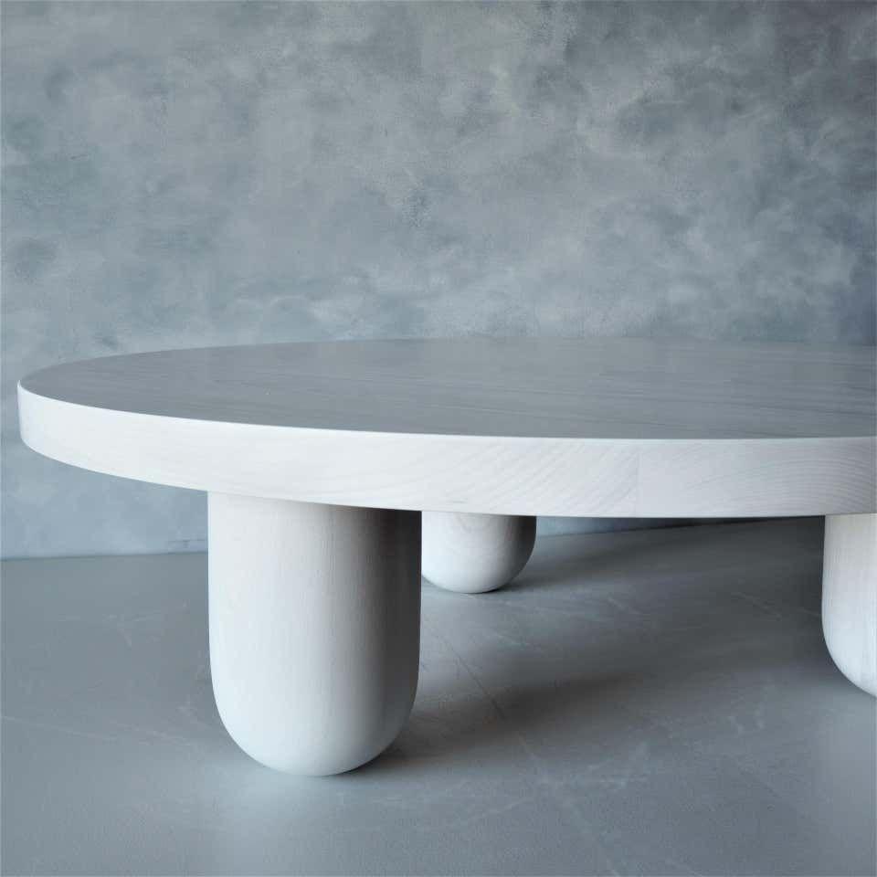 Low Round Beech Column Coffee Table By Msj Furniture Studio [ 960 x 960 Pixel ]