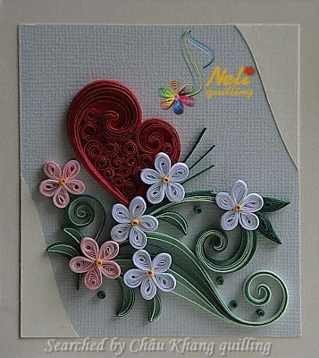 Neli  quilled valentine and heart cards Searched by Chu Khang
