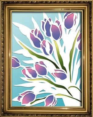 Tulips papercutting easy crafts art projects for kids for Simple arts and crafts for adults
