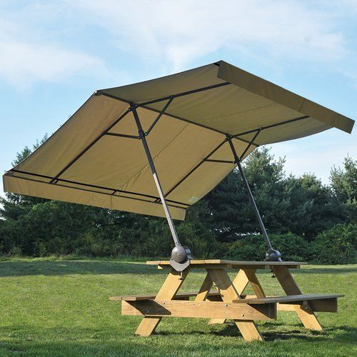 picnic table umbrella outdoor patio pop up canopy folding sun