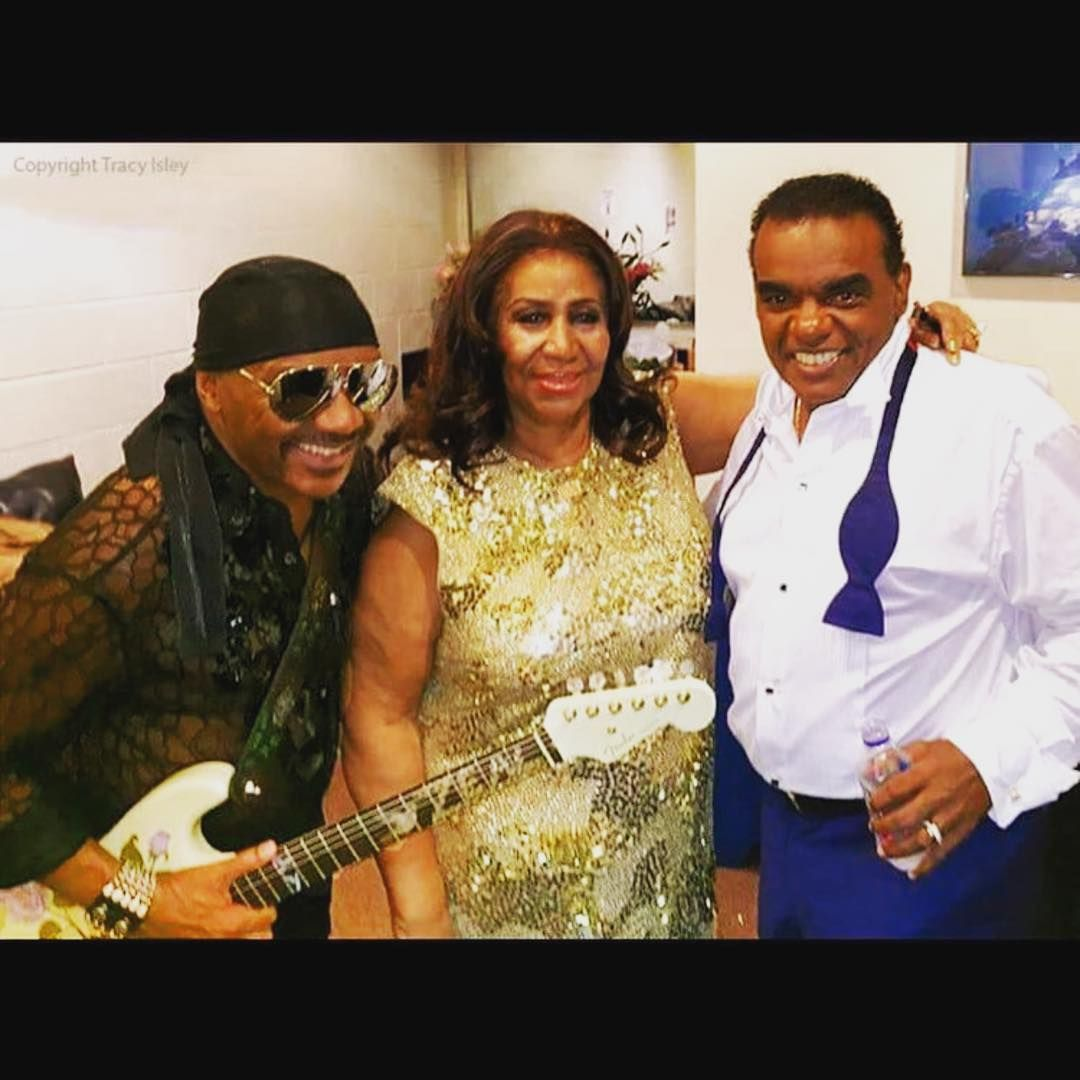 The Queen With Stevie Wonder And Ronald Isley