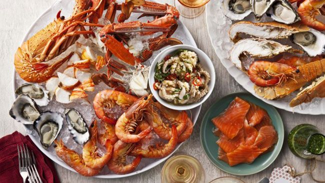 Christmas In Australia Food.Christmas In Australia Food Seafood Platters Made Up Of