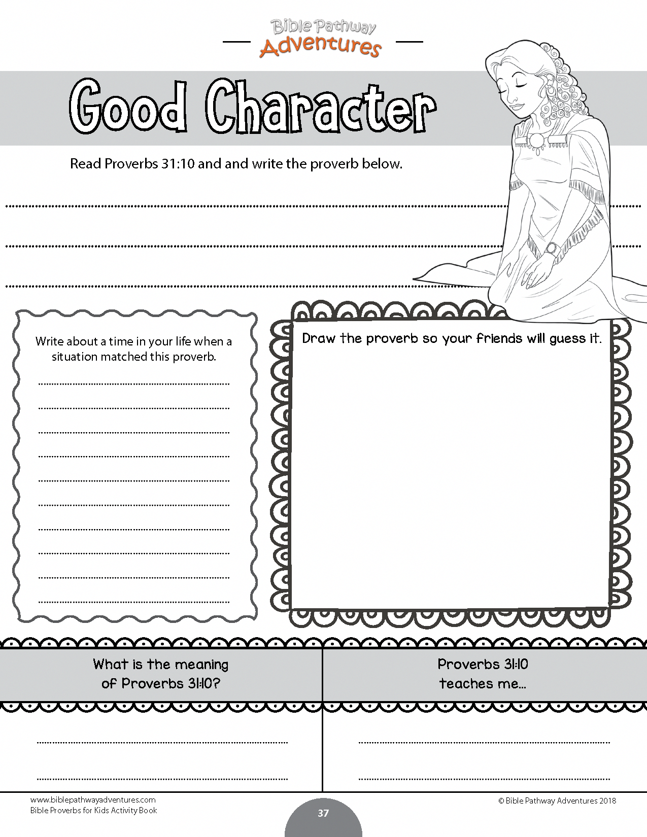 Good Character Coloring Bible Activity For Kids