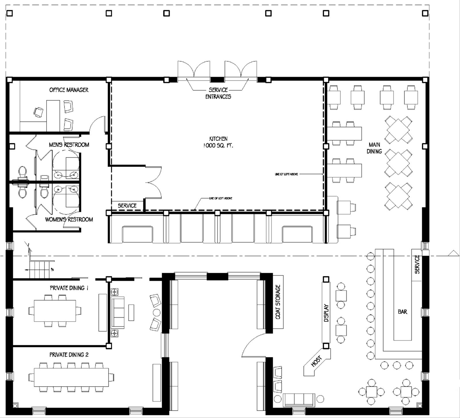 Restaurant Floor Plans  Restaurant Floor Plan  Store