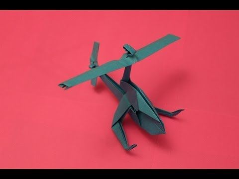How to make a cool paper helicopter origami: instruction| Mosquito Helicopter - YouTube