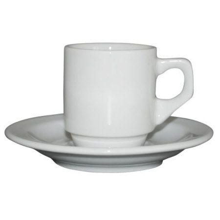 Kop en Schotels Sara Espresso Wit 7 cl