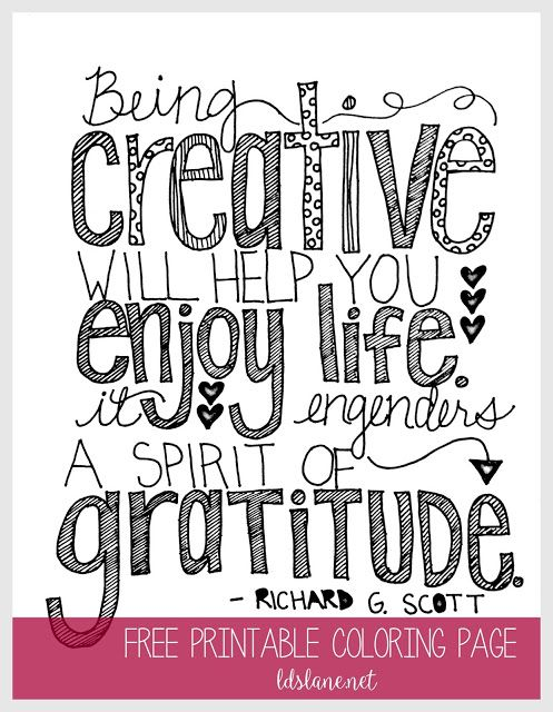 Being Creative Quote Coloring Page